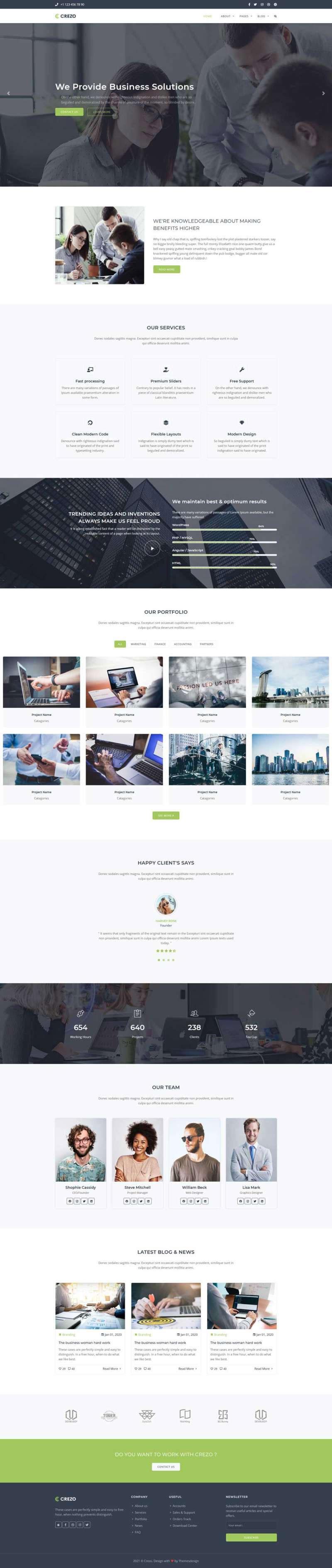 Bootstrap响应式多用途商业服务公司网站模板