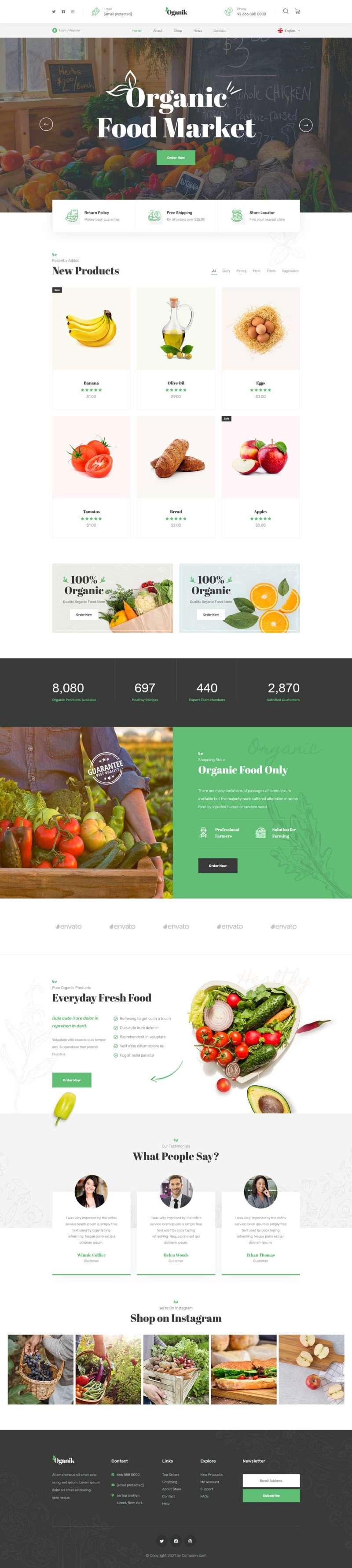 html5响应式有机食品农产品公司网站模板