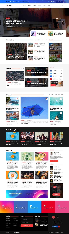 html5大气响应式行业新闻资讯图片杂志网站模板