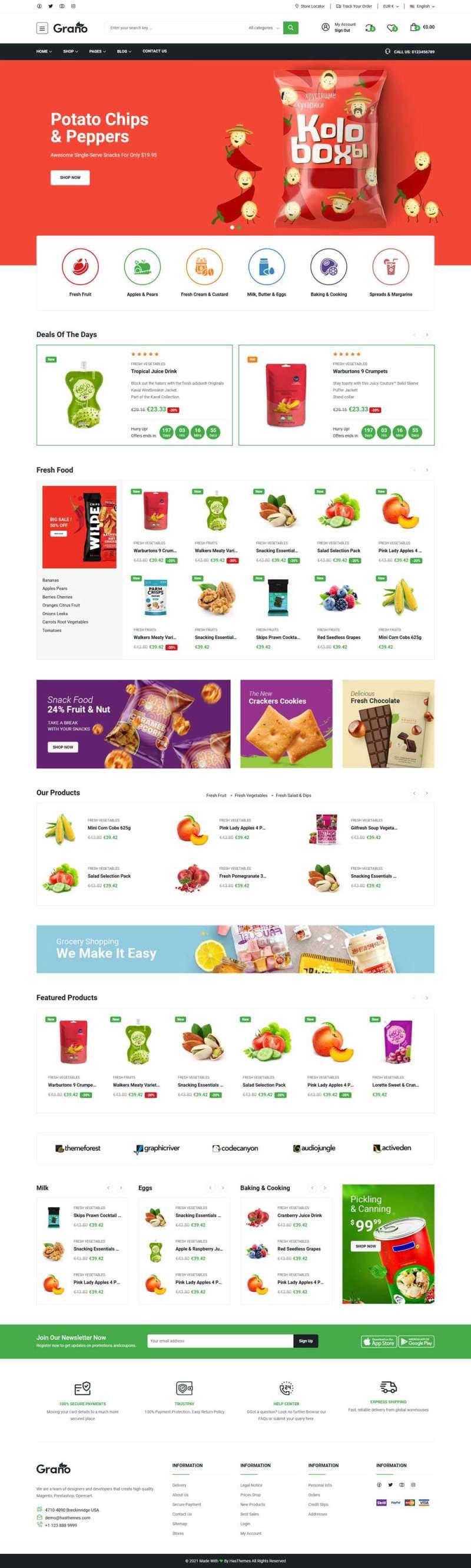 Bootstrap5响应式网上食品超市商城网站模板