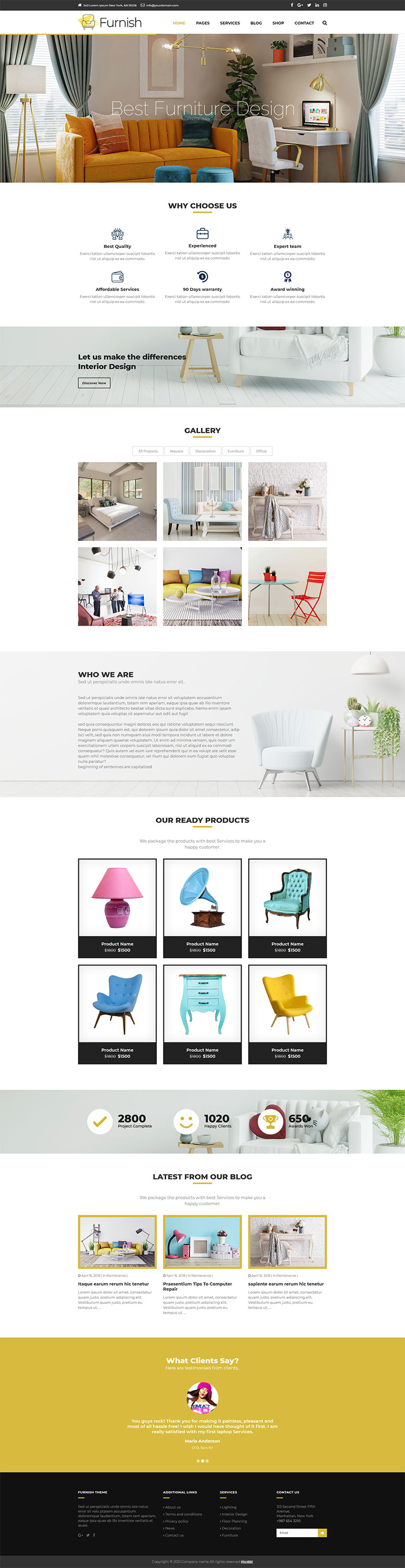 html5响应式室内装潢装饰装修公司网站模板