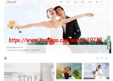 简洁大气婚纱摄影婚庆策划企业网站织梦模板 适用性强 带手机端