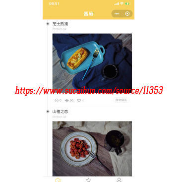 WordPress美食图片图集相册展示平台 美食摄影图片小程序 完整源码带后台