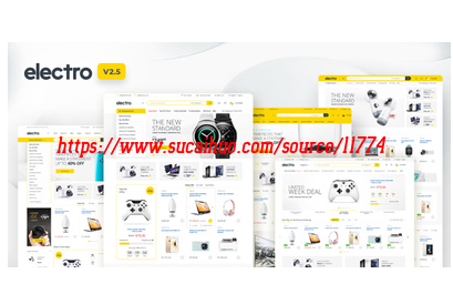 WordPress Electro电器商城主题 英文版数码电器产品外贸在线购物商城