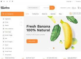 PHP中英文多语言绿色水果食品外贸商城网站模板 跨境电子商务商城模板