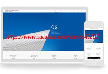 DedeCMS 5.7建筑装饰设计类企业网站模板 滑动式特效设计 带手机端